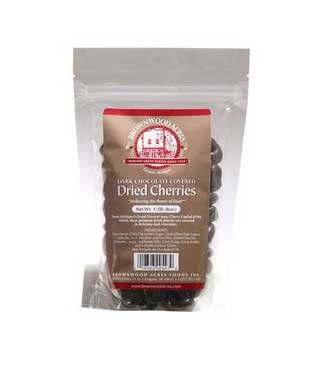 Dark Chocolate covered Dried Cherries by Brownwood Acres 1/2 Pound