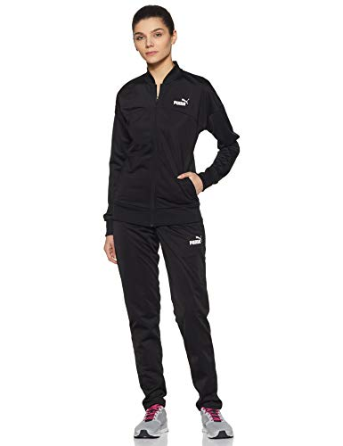 PUMA Damen Classic, op Trainingsanzug, Black, S