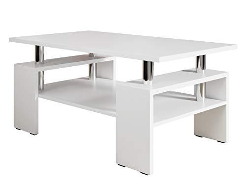 Mirjan24 Couchtisch Cube, Elegante Sofatisch, Wohnzimmer, Stilvoll Kaffeetisch, Wohnmöbel (Weiß)