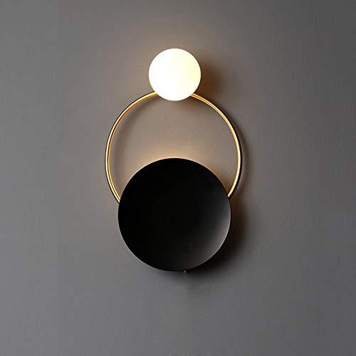 XLTT Lámpara De Pared De La Sala De Estar De Arte Creativo Posmoderno Dormitorio Dormitorio del Diseñador Dormitorio Redondo Anillo Llevó La Lámpara De Pared