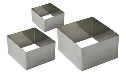 Fackelmann Coppapasta Quadrati 3 Dimensioni, Acciaio, Argento