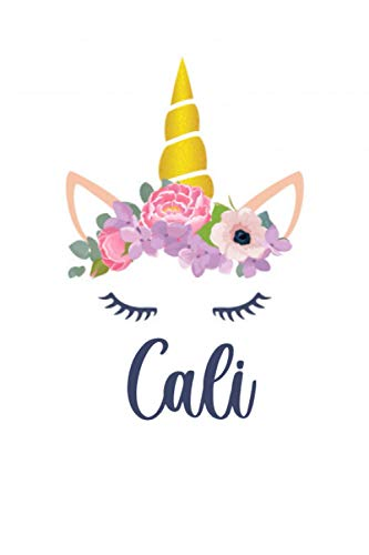 Cali: Personalized Name Lined Journal Diary Notebook 120 Pages, 6
