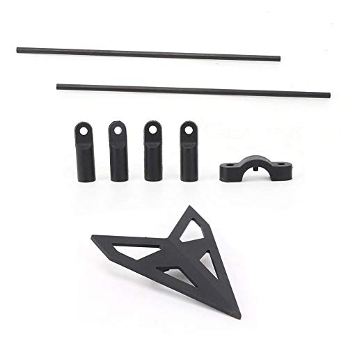 Dilwe Support Bar Set, Plastic/Metal RC Airplane Parts Accessory Compatible for Wltoys V950 RC 6-Channel Airplanes Helicopter Toy