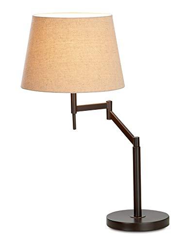 GILDE Lampe Elastico - Tischlampe aus Metall mit Schwenkarm H 68 cm