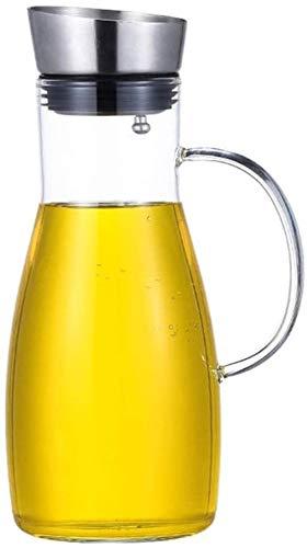 Tetera de cristal El jarro de agua Tetera de cristal con la tapa de la jarra con hielo y la manija de borosilicato resistente al calor jarra de cristal de té / agua caliente y fría / hielo vino de caf