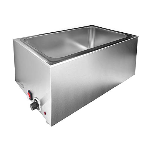 Zica ZCK165A Commercial Stainless Steel Electrical Bain Marie Buffet Food Warmer Steam Table for Catering and Restaurants