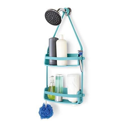 umbra Flex Caddy Colgador de ducha para colocar jabones y recipientes, 13-1/2' x 4' x 23-1/2' h, Surf azul