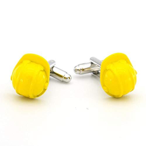 KFYU Französische Manschettenknöpfe gelb Helm Hutform