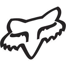 Aufkleber / Autoaufkleber / Sticker / Decal Fox Racing Head Sticker Decal Vinyl : White127mm Decal