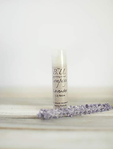 All Natural Lavender Lip Balm - All Natural Handmade - BU Company - 4 pack