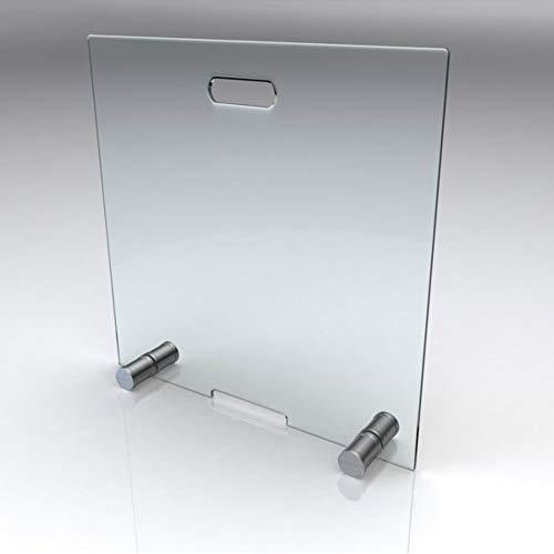 bijon® Kamin Funkenschutz aus Spezial-Sicherheitsglas HxB 600x500mm | Kamin Ofen Glas Funkenschutzgitter