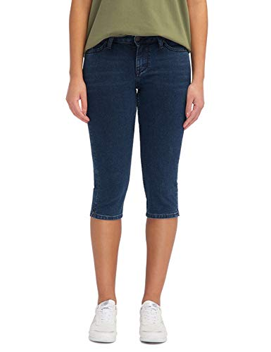 Mustang Jasmin Capri Shorts Bermudas, Azul (Medium Dark 780), W29 (Talla del Fabricante: 29) para Mujer