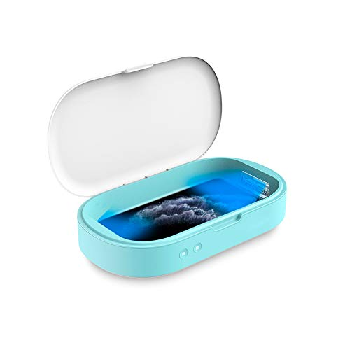 Celly Sterilizzatore UV Universale (certificazioni), Scatola disinfettante con Raggi UV-C e Funzione aromaterapia per Smartphone e Accessori, Orologi, Maschere, Guanti.