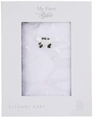 Price comparison product image Elegant Baby White Eyelet Covered Heirloom Bible