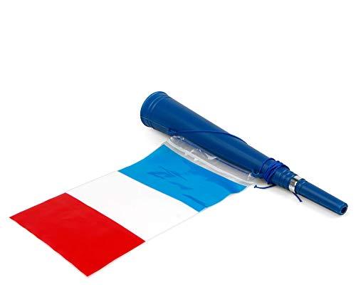 Atosa-24579 Atosa-24579-Cornet avec Drapeau français 36 x 5 cm – Monde de Football et Sports, Couleur Bleu, Blanc et Rouge (24579)
