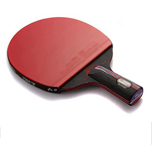 JIANGCJ bajo Precio. Raqueta de Tenis de Mesa - Paleta de Ping Pong Profesional con Estuche de Transporte - ITTF Caucho Aprobado for Torneo, Familia Ping Pong Racket-E
