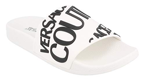 VERSACE JEANS COUTURE EOVVBSQ1 Slippers/Klompen femmes Wit/Zwart slippers