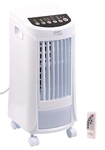 Sichler Haushaltsgeräte Raumkühler: 3in1-Luftkühler, Luftbefeuchter & Ionisator, Timer, Fernbedienung, 65W (Luftkühler mit Wasserkühlung)