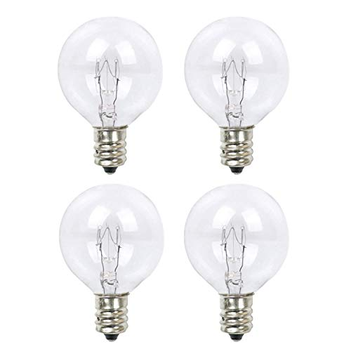 20 Watt Scentsy Replacement Bulbs,Wax Melt Warmer Light Bulbs,Extra Long Life, for Mid-Size Scentsy Warmers,Pack of 4