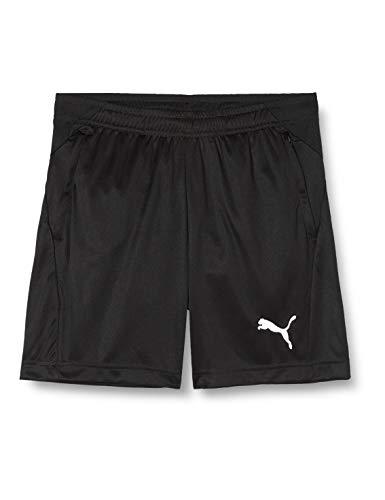 PUMA Liga Training Shorts Jr Pantalón, Unisex niños, Negro Black White, 164