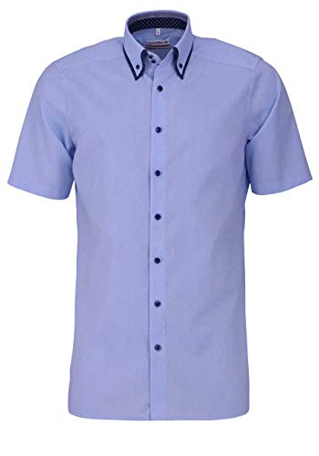 Marvelis Herrenhemd modern fit, kleinkariert mit Doppelkragen (40)
