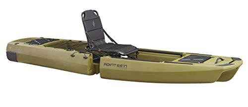 Point 65 Sweden Kingfisher Modular Fishing Kayak, Moss Green