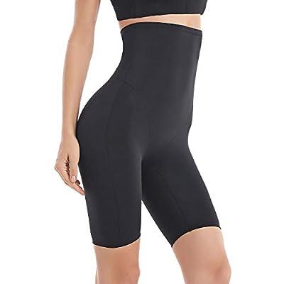 Fianmy Women's Shapewear High Waist Seamless Body Shaper Butt Lifter Panty Tummy Control Thigh Slimmer (Large, Black)