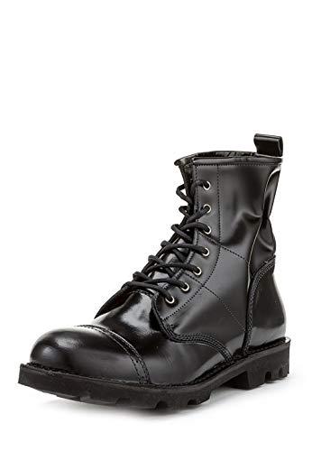 Diesel Damen Boots Stiefeletten D-KOMBATT Schwarz (EUR 38, Schwarz)