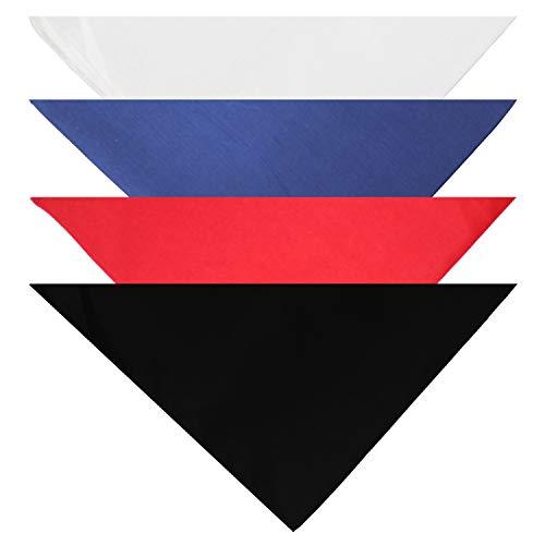 Balec Hunde-Halstücher – 4 Stück – Schal Dreieckslätzchen für alle kleinen, mittelgroßen oder großen Haustiere, Einheitsgröße