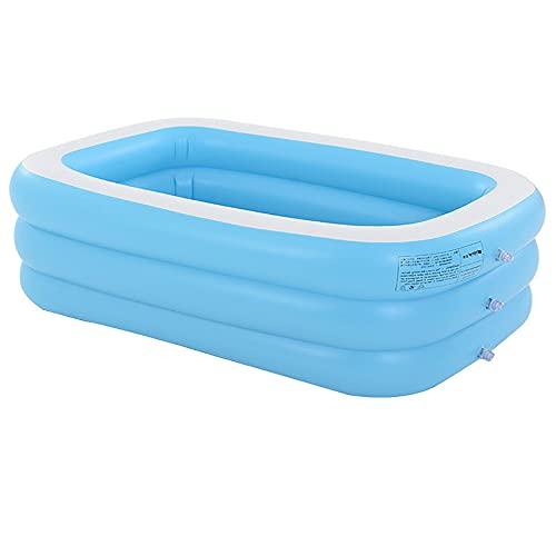 Panjzylds aufblasbare Badewanne für Erwachsene (mit Elektropumpe) PVC weich und bequem, vergrößerter und dicker Pool, faltbare aufblasbare SPA-Badewanne, himmelblau