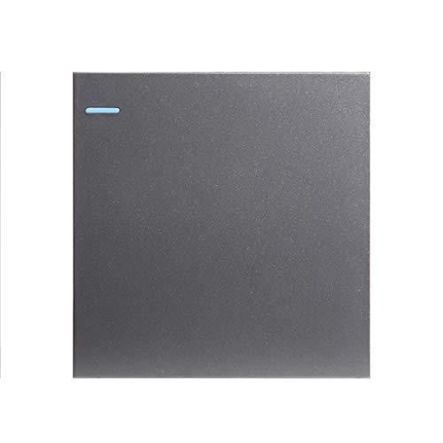Interruptor De Luz Botón De Metal Gris Simple Tipo Interruptor De Encendido De 4 Vías Para La Oficina En Casa Sin Marco 86 Tipo De Decoración Set 10A (Color : Gray, Size : 1)