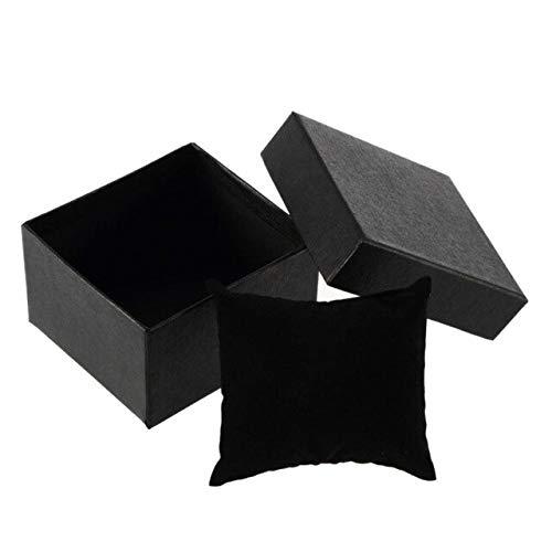 LYR 1 PCS Cajas de Regalo Negras para Pendientes Reloj de Pulsera de Anillo de joyería Navidad Bolsas de Embalaje de Navidad Box Suministros de Fiesta-1 pcs