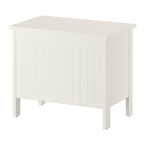 Ikea SILVERAN - Storage bench, white - 70 cm
