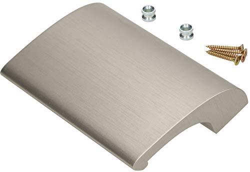 KOTARBAU - Tirador para puerta de balcón (aluminio, aspecto de acero inoxidable, mango para puerta de terraza, para fumadores, puerta de puerta, cierre universal