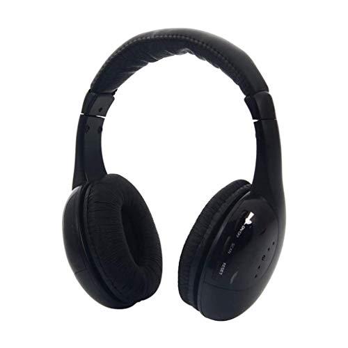 5 en 1 Casque sans Fil Casque sans Fil MP3 Mic PC Confortable à Mute Bruit Annulation Casque Microphone