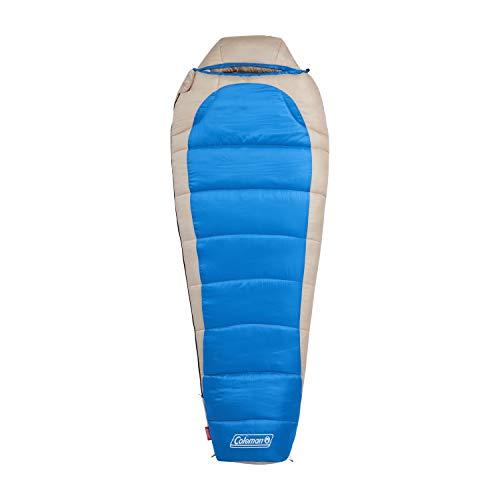 Coleman Sleeping Bag | 0°F Big and Tall Mummy Sleeping Bag | Silverton Sleeping Bag, Blue