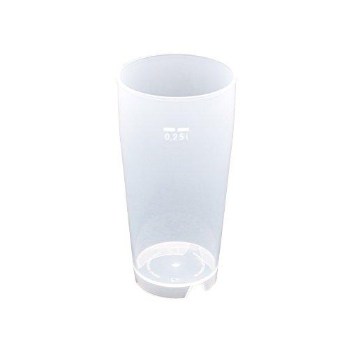 50 Stück 0,25L Mehrwegbecher PP transparent