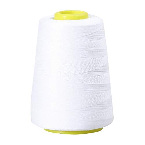 Artibetter 20/2 4000 Yards Naaien Onderdraad Polyester Naaien Floss Koord Ambachten Levert Voor Borduurwerk Naaimachines Kralen Quilten (Wit)