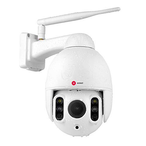 Wonect K64A Camara Exterior IP WiFi Zoom 4X Digital 4X Optico Vision Nocturna 50 Metros. Funciones de Sonido (Hablar-Escuchar). Zoom Optico sin Perder Calidad
