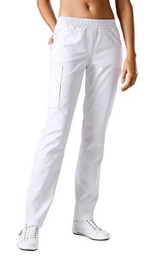 CLINIC DRESS - Schlupfhose für Damen Weiß Stretch weiß 48