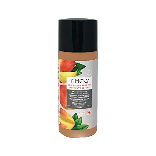 Timely, solvente per unghie senza acetone, con vitamine E e A e proteine della seta, formato piccolo, 100 ml