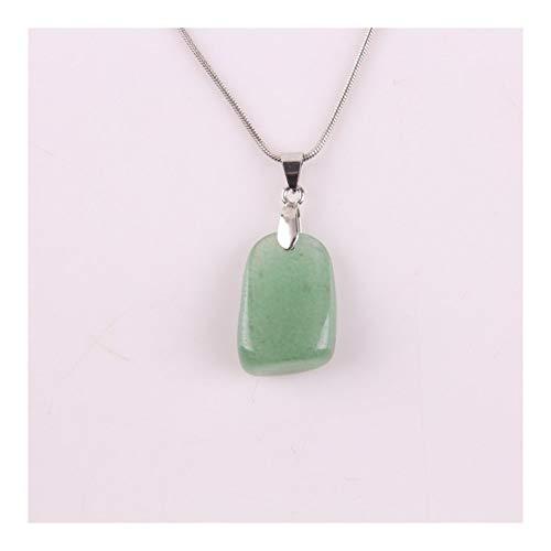 XIAOXINGXING Collar Natural Aventurina Colgante Salud Suerte Forma irregular Piedra Cristal Colgante Pequeña Joyería Colgantes