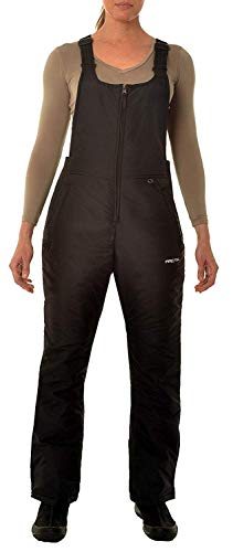 Arctix Women's Essential Insulated Bib Overalls, Black, Large/Regular