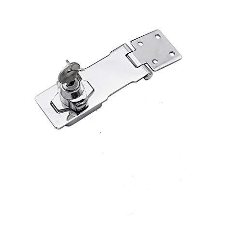 Candado Hasp 2,5/3/4 pulgadas, pestillo para puerta, cerradura con llave, cierre de seguridad para puertas de cobertizos, puertas, armarios, cajones y muebles