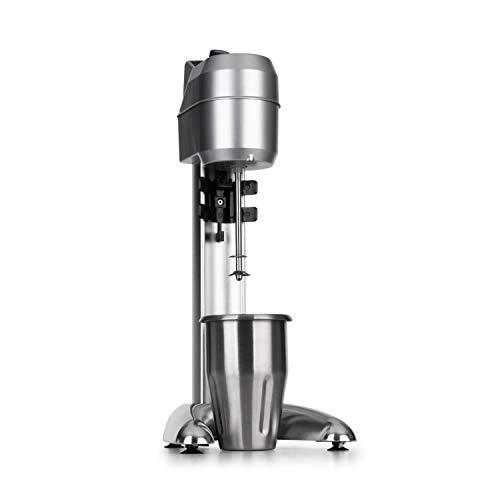 Klarstein Pro Kraftprotz Batidora para bedidas - 300W, capacidad 0.9 litros, agitador, batidora de leche y proteína, mezclador de bebidas, acero inoxidable, plata