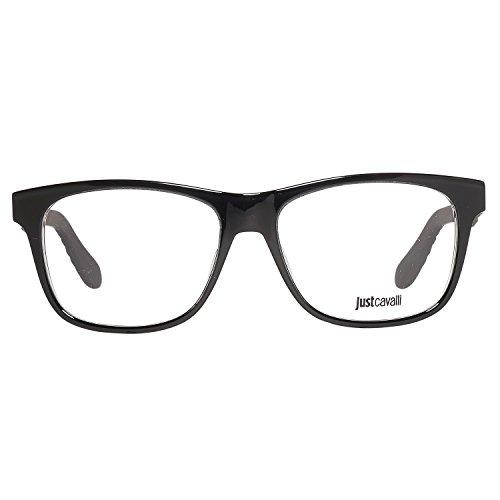 Just Cavalli JC0643 53001 Just Cavalli Optical Frame JC0643 001 53 Rechteckig Brillengestelle 53, Schwarz