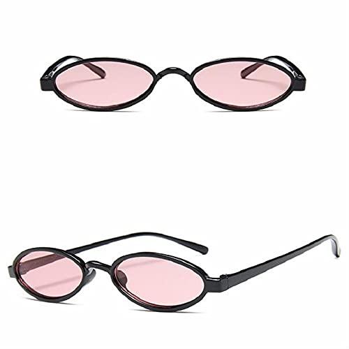 Sunglasses Gafas de Sol de Moda Gafas De Sol De Estilo Retro Ovaladas para Mujer, Marco Transparente Redondo, Blanco, Ro