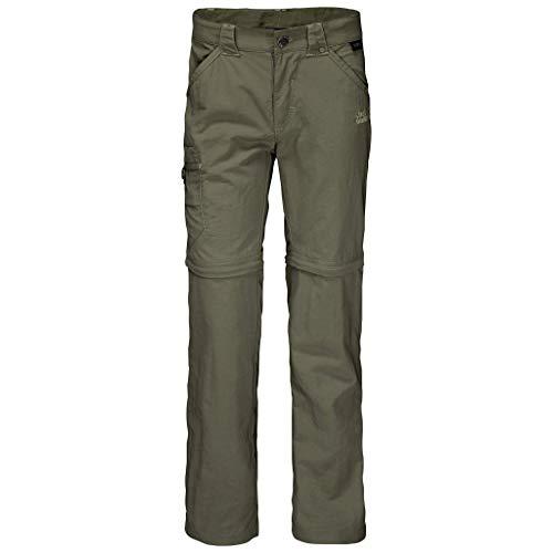 Jack Wolfskin Kinder SAFARI Zip Off Pants, Grün (woodland green), 116