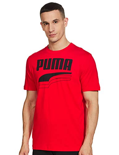 PUMA Rebel Bold Tee Tricot Homme, Rouge (High Risk Red), XL