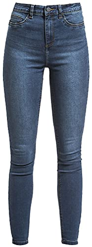 Noisy may Callie HW Skinny Jeans Frauen Jeans dunkelblau W27L30